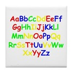 Alphabet in color Tile Coaster