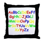 Alphabet in color Throw Pillow