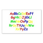 Alphabet in color Rectangle Sticker 50 pk)