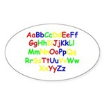 Alphabet in color Oval Sticker (50 pk)