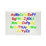 Alphabet in color Rectangle Magnet