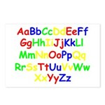 Alphabet in color Postcards (Package of 8)
