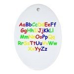 Alphabet in color Oval Ornament
