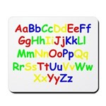 Alphabet in color Mousepad