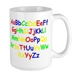 Alphabet in color Large Mug