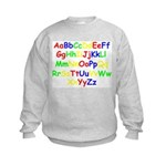 Alphabet in color Kids Sweatshirt
