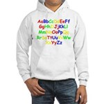 Alphabet in color Hooded Sweatshirt