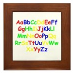 Alphabet in color Framed Tile