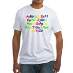 Alphabet in color Fitted T-Shirt