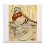 Mealy English Trumpeter Pigeo Tile Coaster