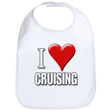 I Love (Heart) Cruising Bib