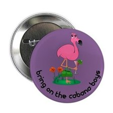 "Flamingo Cabana Boy 2.25"" Button"