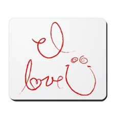 I Love You Mousepad