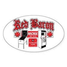 Red Baron Arcade Aurora CO Oval Decal