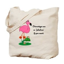 Fabulous Fanny Flamingo Tote Bag
