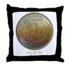 Morgan Dollar Shop Throw Pillow REVERSE