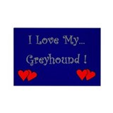 I Love My Greyhound Rectangle Magnet (10 pack)