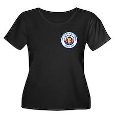 506th PIR Women's Plus Size Black T-Shirt