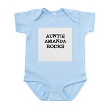 AUNTIE AMANDA ROCKS Infant Creeper