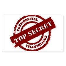 Top Secret Red Rectangle Sticker 50 Pk)
