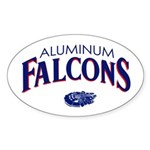 Aluminum Falcons Oval Sticker