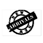 New Arrivals black Postcards (Package of 8)
