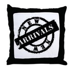 New Arrivals black Throw Pillow