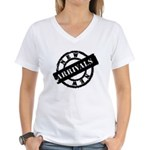 New Arrivals black Women's V-Neck T-Shirt