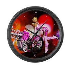 Pink Large Wall Clock
