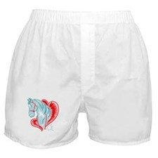 blue horse Boxer Shorts