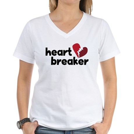 Heart Breaker Women's V-Neck T-Shirt