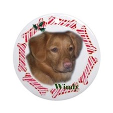 Unique Personalized dog christmas Ornament (Round)