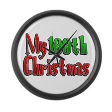 My 100th Christmas Large Wall Clock