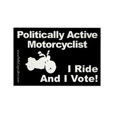Politically Active Motorcyclist Rectangle Magnet