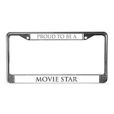 Proud Movie Star License Plate Frame