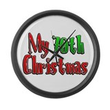 My 70th Christmas Large Wall Clock