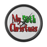 My 50th Christmas Large Wall Clock