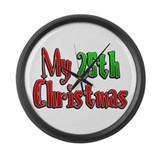 My 25th Christmas Large Wall Clock