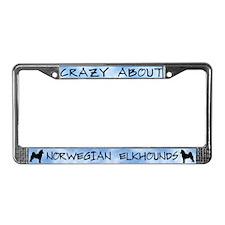 Crazy Abt Norwegian Elkhounds License Plate Frame