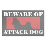 Beware of Attack Dog Norwegian Elkhound Bumper Stickers