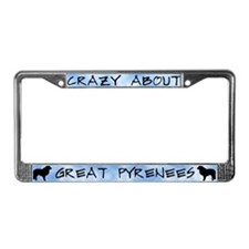 Crazy About Great Pyrenees License Plate Frame