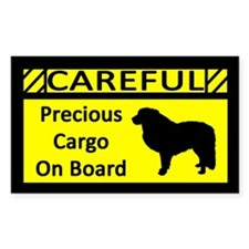 Precious Cargo Great Pyrenee Rectangle Decal