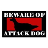 Beware of Attack Dog English Setter Decal