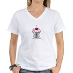 Sexy Cupcake Women's V-Neck T-Shirt