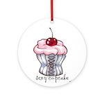 Sexy Cupcake Ornament (Round)