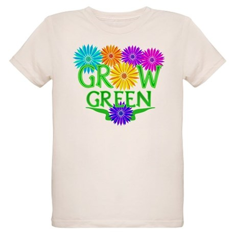 Grow Green Floral Organic Kids T-Shirt