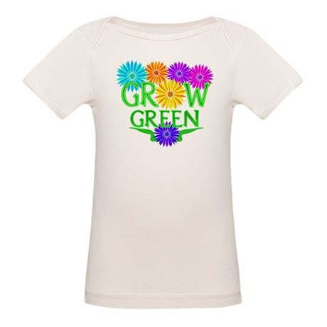 Grow Green Floral Organic Baby T-Shirt