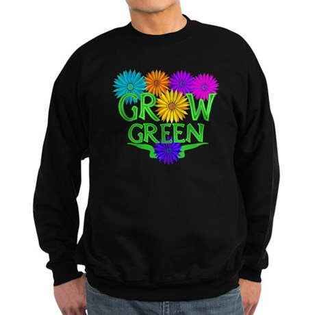 Grow Green Floral Sweatshirt (dark)