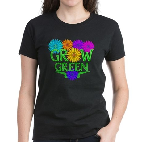 Grow Green Floral Women's Dark T-Shirt