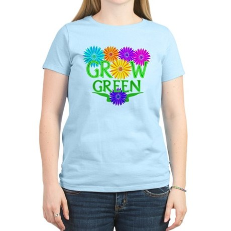 Grow Green Floral Women's Light T-Shirt